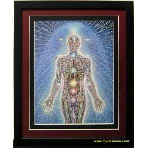 Psychyc Energy System By Alex Grey ,Framed & Double Matted