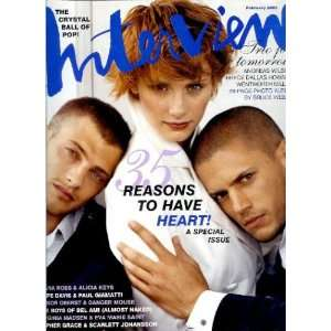 , Wentworth Miller, and Andreas Wilson Cover: Ingrid Sischy: Books
