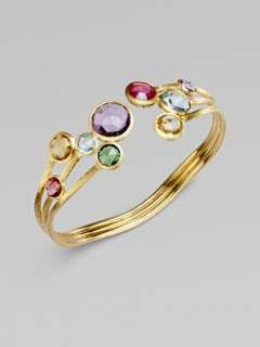 Marco Bicego   18K Gold Semi Precious Multi Stone Cuff Bracelet