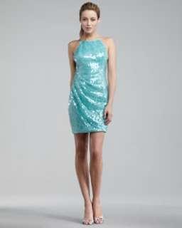 high neck sequin swan dress original $ 360 216 25 % off
