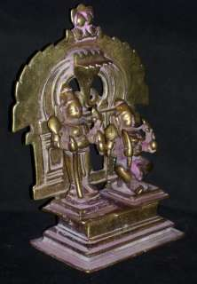 Traditional Indian Bronze Statue God Shiva And Shakti Collectible