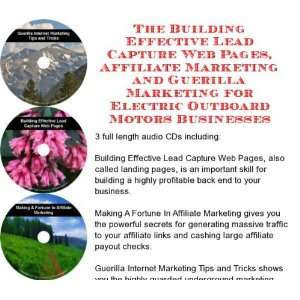 Web Pages, Affiliate Marketing for Electric Outboard Motors Businesses