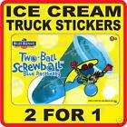 Ice Cream Truck cart Stickers 089 jolly rancher ice pop items in