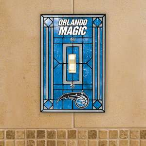 NBA   Orlando Magic Art Glass Light Switch Cover Sports