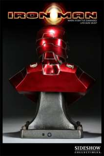 Sideshow Iron Man   Mark III Battle Damaged Bust
