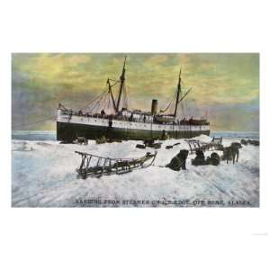 Nome, Alaska   A Steamer Landing on the Ice Premium Poster