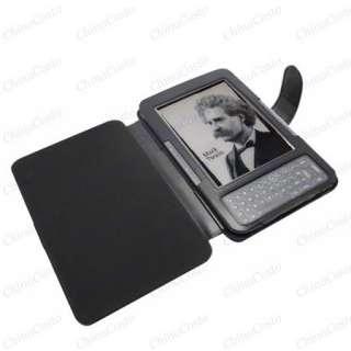 Kindle 3rd Black Leather Case eBook Jacket Cover