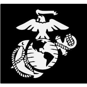 Marine Corps   Eagle Globe & Anchor WHITE USMC Car Decal