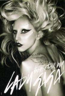 P503 BLACK WHITE LADY GAGA BORN THIS WAY HARD ROCK MUSIC POSTER 40 X