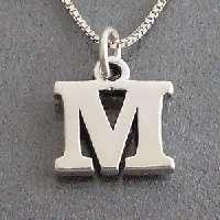 Initial Letter J .925 Silver Pendant/Charm