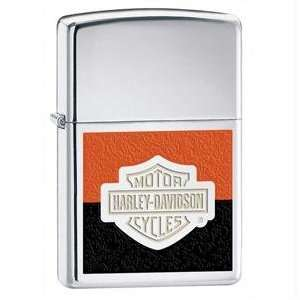 Zippo Harley Davidson Two toned Lighter (Silver, 5 1/2 x 3
