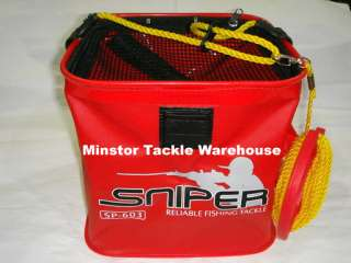 SNIPER SP603 EVA Live Bait Fishing Bucket (RED)