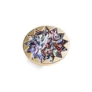 House of Harlow 1960 Sunburst Abalone Ring Jewelry