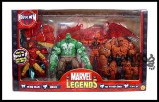 Marvel Legends Box Set Toy Biz House of M Hulk Iron Man Inhuman Torch