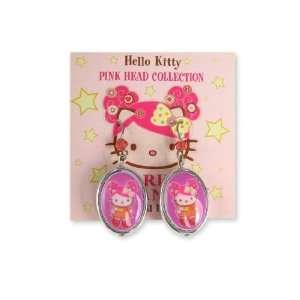 Tarina Tarantino Hello Kitty Pink Head Classic Drop Earrings