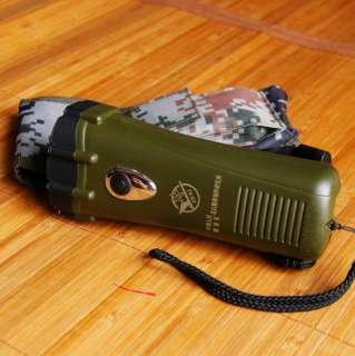 PLA Military Survival Hand cranked Charger Flashlight