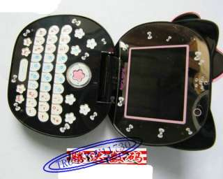 BLAKC K68 HELLO KITTY FLIP CELL PHONE MOBILE 2 SIM CAMERA  GSM