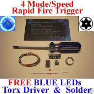 Xbox 360 Controller 4 Mode Rapid Fire Mod Kit w Torx T8