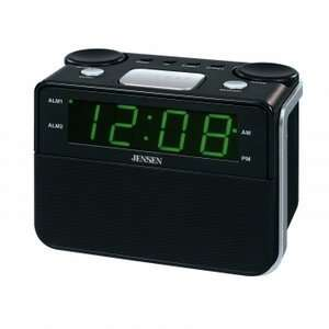 Jensen JCR 255 AM/FM Dual Alarm Auto Time Set Clock Radio