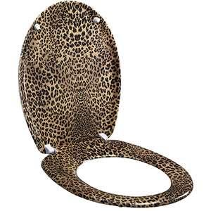 Leopard Skin Print Designer Toilet Seat