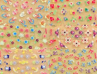 50 Diff 3D Nail Art Design Stickers Sheets Decals Decal