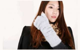 FINGERLESS GLOVES ~Angora Wool Fluffy Anime Kpop Korean Fashion Cute