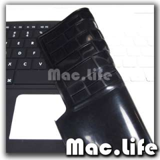 FULL Solid BLACK Silicone Keyboard Skin Cover for Old Macbook White 13