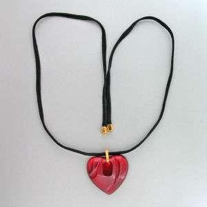 BACCARAT RED CRYSTAL HEART PENDANT 27 INCH CORD ORIGINAL BOX