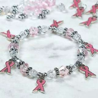Cancer PINK RIBBON Charm Bracelet craft kits Jewelry Making Supplies