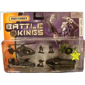 Matchbox Battle Kings Night Landing Military Set: Toys & Games