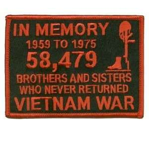 Memory of The 58479 Vietnam RED Veteran Biker Patch!: Everything Else