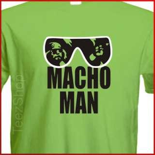 MACHO MAN Randy Savage WWF pro wrestling fan T shirt