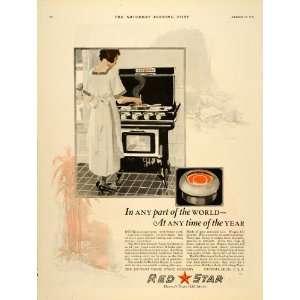 1921 Ad Red Star Detroit Vapor Oil Stove Appliances