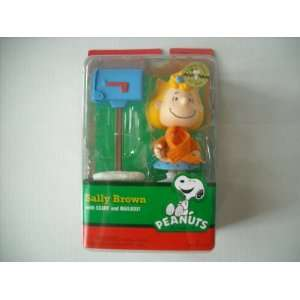 Peanuts Sally Brown Figure with Scarf and Mailbox