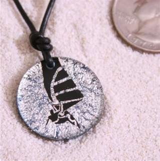 Windsurfing Sail Board Pendant Leather Necklace Boom R5