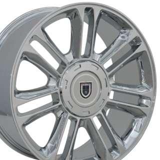 20 Rims Fit Cadillac   Escalade Wheels   Chrome 20x9