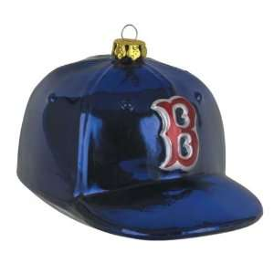 Boston Red Sox MLB Glass Baseball Cap Ornament (4 inch)